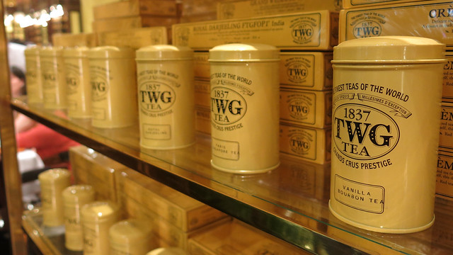 Various tea selections at TWG