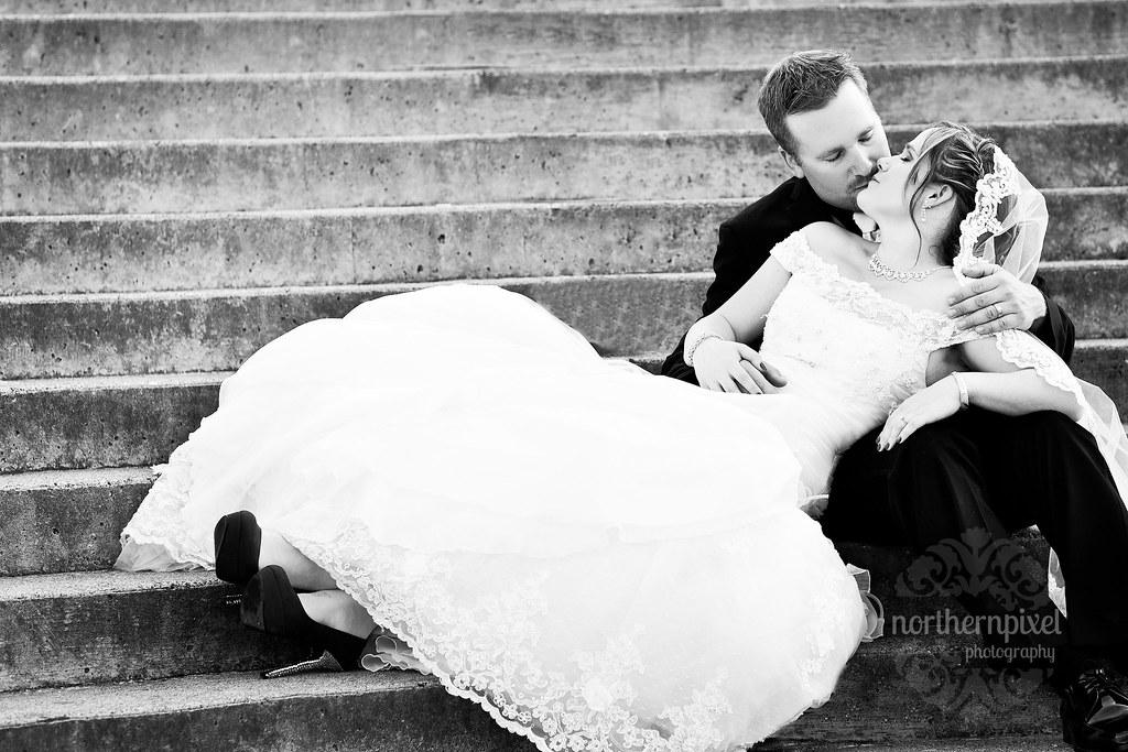 Bridal Couple University of Northern British Columbia Wedding