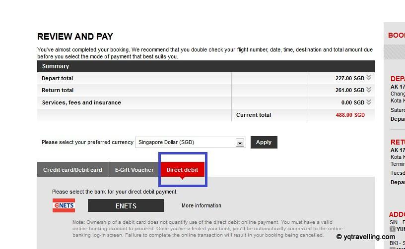 AirAsia Direct Debit