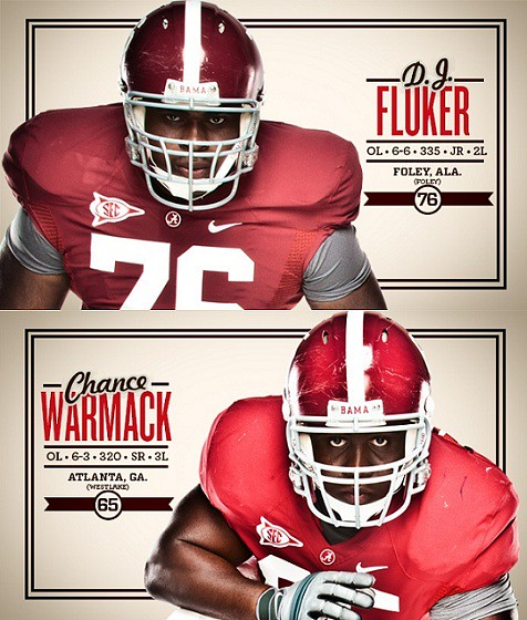 Alabama Awards Candidate: OL Chance Warmack and OL D.J. Fluker