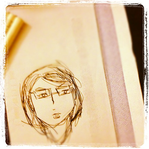 10 second self portrait - draw yourself in 10 seconds or less (or eyes closed?) #dailycreate #tdc316