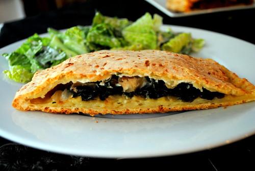 Gluten Free Spinach & Cheese Calzone