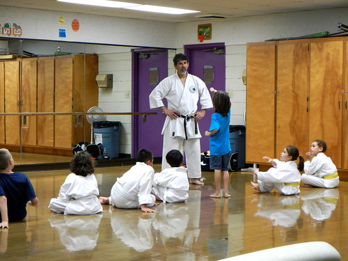 showing sensei an upper block