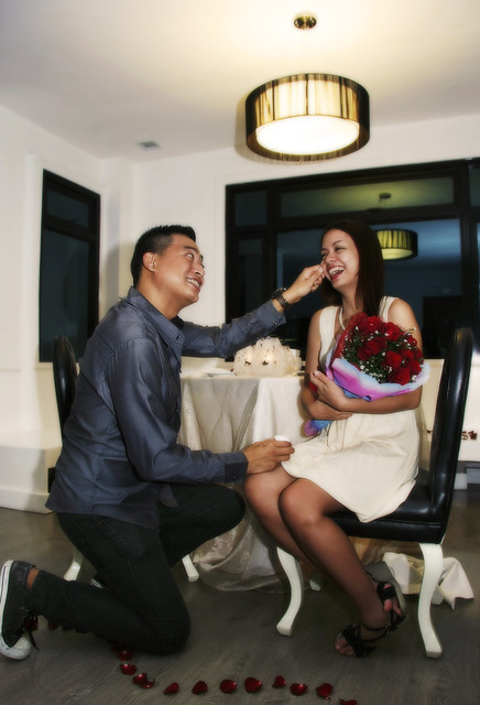 Yani proposing to Angge 7 suites hotel antipolo city