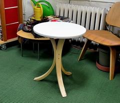 three-legged table