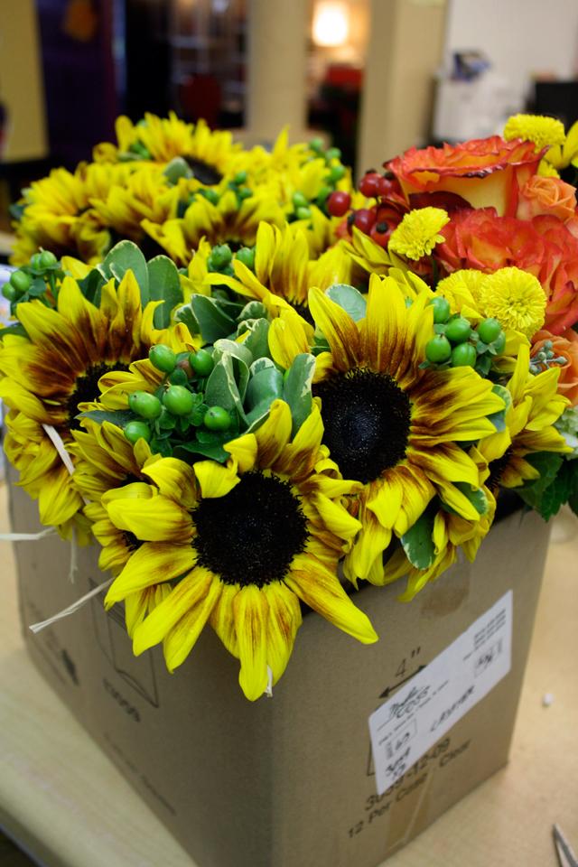 firewalker sunflower bouquets