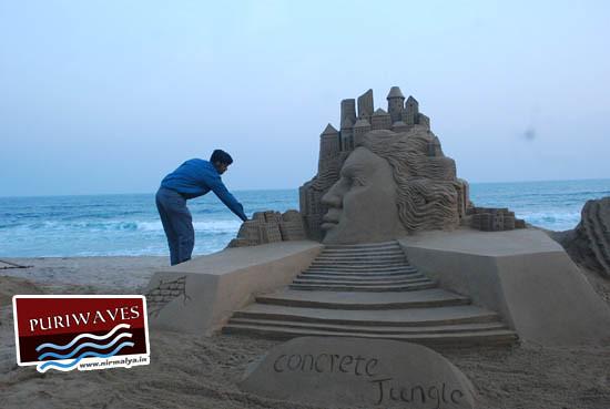 Sand Art in 18th beach festival