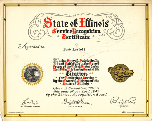 Fred's Commendation
