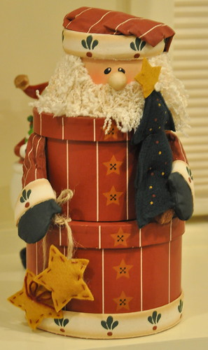 three-tiered santa box