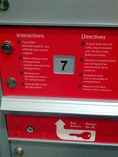 Canada Post Parcel Locker Instructions