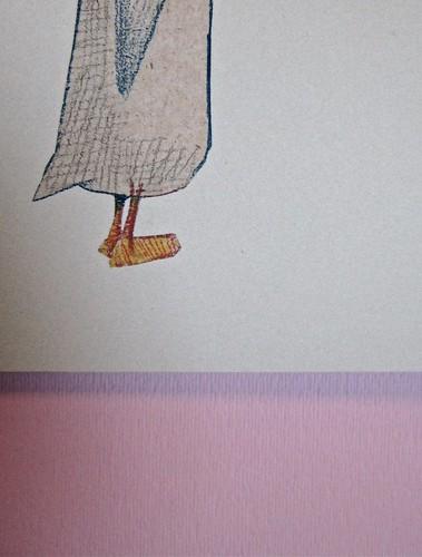 Wolf Erlbruch, L'anatra, la morte e il tulipano. edizioni e/o 2012. Grafica di W. E. e, per l'ed. it.: Emanuele Ragnisco. Copertina (part.), 2