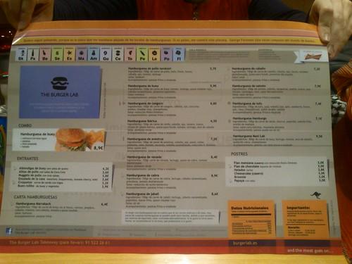 Carta - The Burger Lab