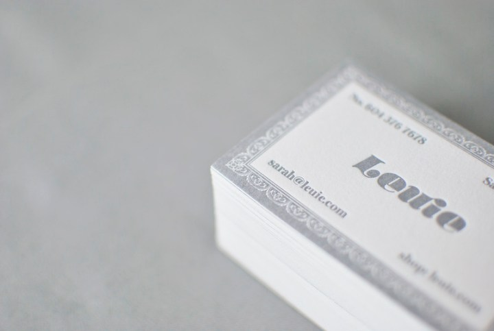 leuie letterpress card