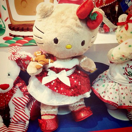 "I had to see it for myself, after my friend told me her daughter pointed it out #buildabear #hellokitty ""mama look! ms.esther would love that"" they know me too well...xD"