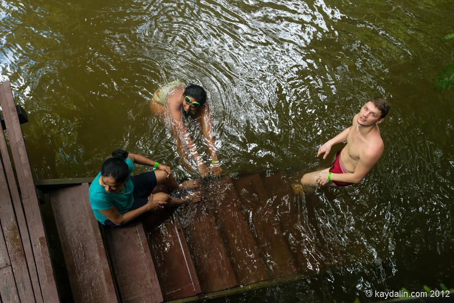 swimming in malaysia river