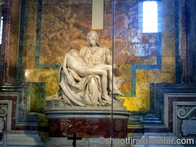 St. Peter's Basilica- Michaelangelo's Pietà