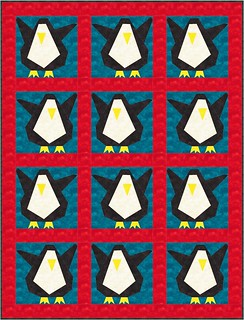 Wee Lil' Penguin Quilt Idea