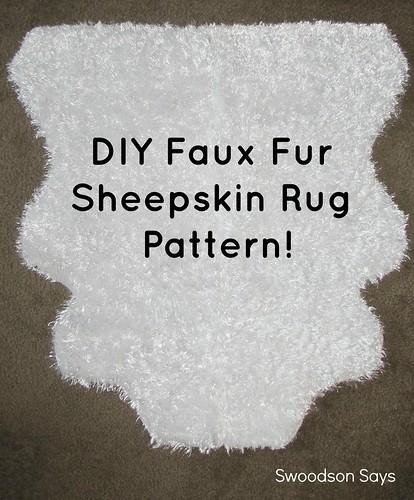 DIY Nursery: Faux Sheepskin Faux Fur Rug with Pattern - Swoodson Says