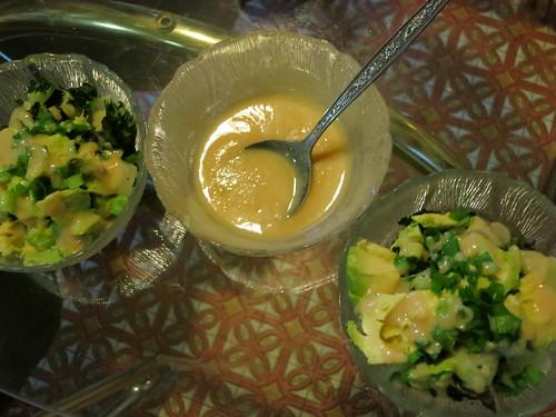 Bok choy and avocado salad