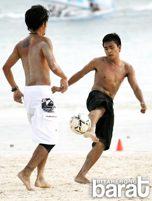 beach football boracay island