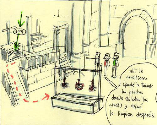 Calvary (Golgotha). Cuaderno de viaje ilustrado. Travel Sketchbook Palestine #14