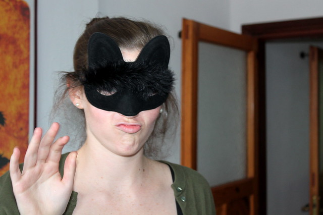 Sassy cat mask