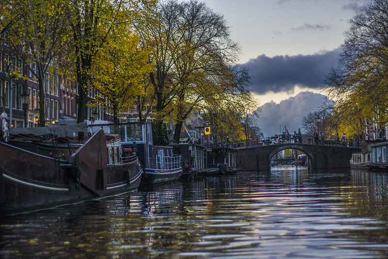 amsterdam bridge in he sunset by ks3nia (c)