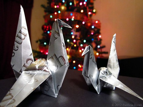 Day 344 Origami Cranes by pixygiggles