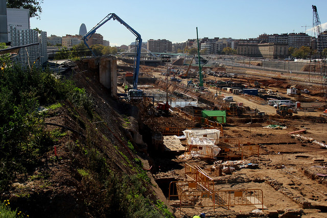Trabajos arqueológicos junto al puente del trabajo - 5-12-12 - © Marc Arroyo