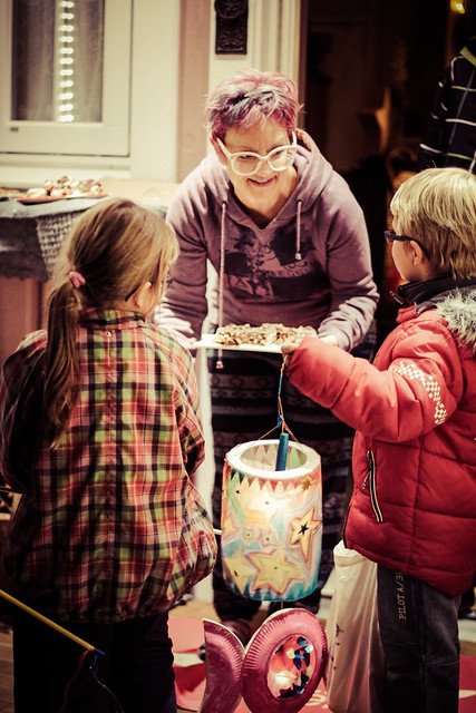 """Kids singing for sweets at our house on """"St Martin"""""""