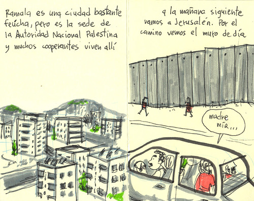 Ramallah and the wall. Palestine Sketchbook #4
