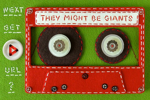 Felt Cassette Tape for They Might Be Giants' iPhone App!