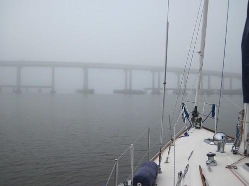 Fogged in Lanier bridge