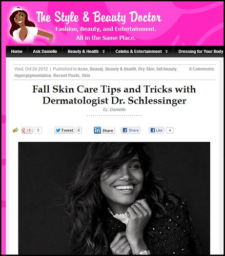 Expert fall skin care tips from Joel Schlessinger MD featured on TheStyleandBeautyDoctor.com