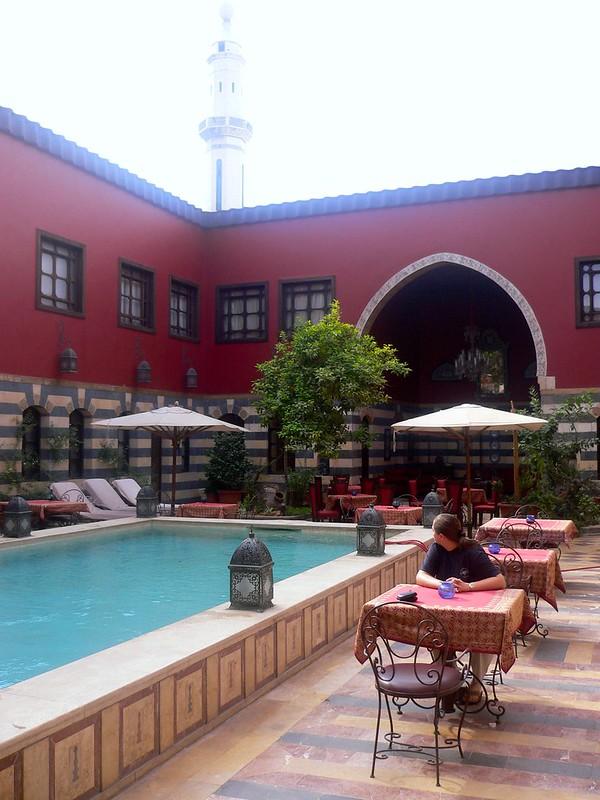 Inside the Hotel Talisman Al Ameen in Damascus