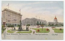 Hotel Whitcomb San Francisco Cal. Municipal Auditorium
