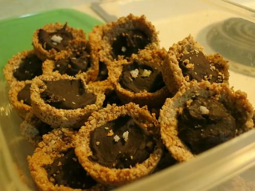 Salted chocolate tarts