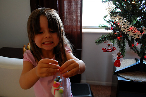 Her first Christmas ornament.