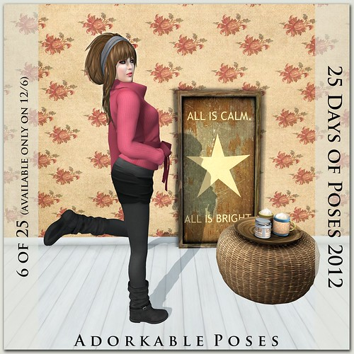 Adorkable Poses - Advent Day 6 @ The Deck