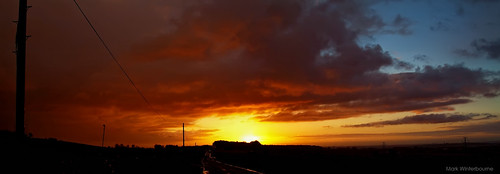 Sunrise | Otley Chevin - 3rd October 2012 - Photostitch