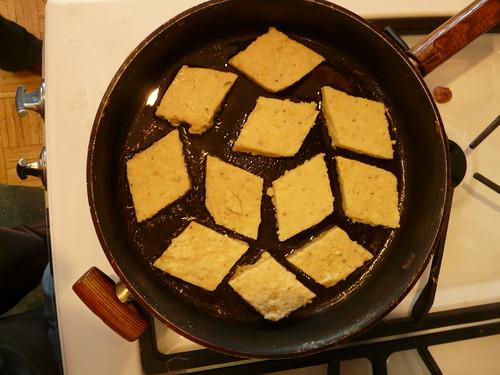 Frying Polenta Cakes