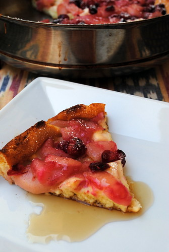 Pear & Cranberry Dutch Baby Pancake