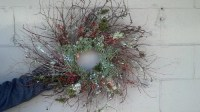 twiggy Christmas wreaths