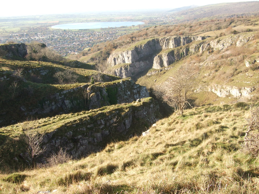 Looking along Cheddar Gorge.