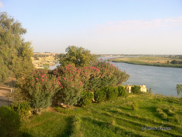 The Euphrates river from Deir Ez-Zor, Syria