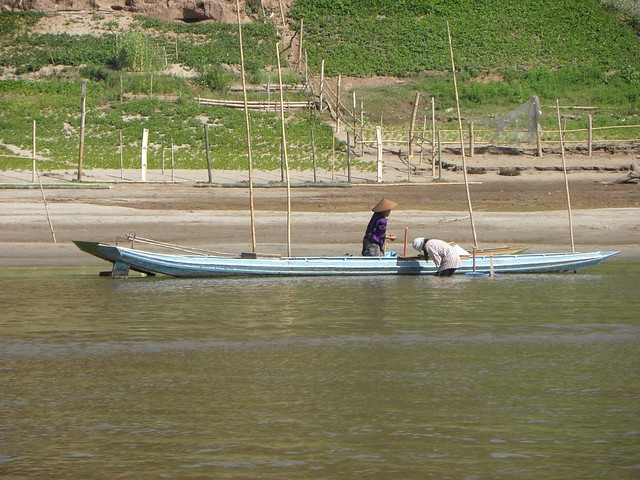 Fishing on the Mekong in Northern Laos