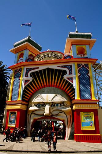 Entrance to Luna Park, St. Kilda