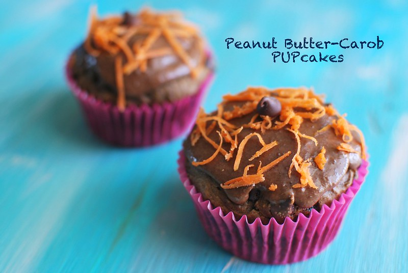 Peanut Butter-Carob PUPcakes