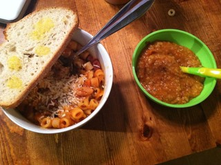 Pasta Fagioli for parents and baby.