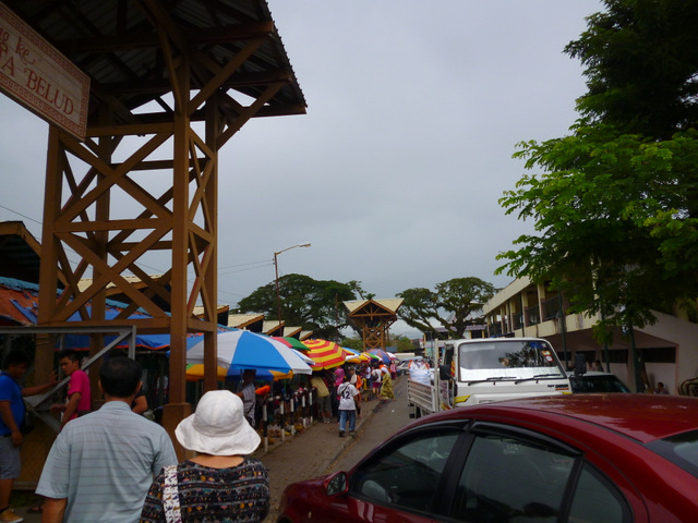 Stalls outside the official market